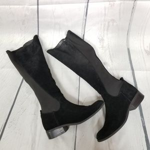 NINE WEST Partay suede leather knee high boots